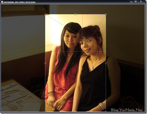 PhotoImpact|使用黃金比例讓照片有不同感覺!