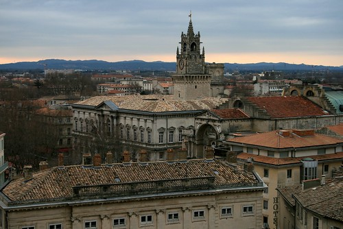 Rooftops of Avignon on Christmas