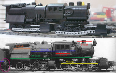 Angus WiP Compare (SavaTheAggie) Tags: work lego angus engine progress wip steam locomotive erie camelback 0880