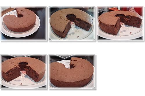 你拍攝的 巧克力蛋糕。