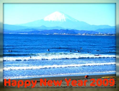 Mt.Fuji view from Enoshima beach