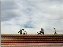 Old good games [4/4] (Paco CT) Tags: barcelona people urban game kids stairs football spain cityscape play gente candid soccer forum nios personas urbano es persons juego 2009 escaleras urbanscape candidshot paisajeurbano efh crios robado elfactorhumano thehumanfactor humanpresence pacoct santadriadelbesos presenciahumana