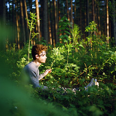 empathy (kygp) Tags: portrait people colour film nature boys analog square photography russia hasselblad format middle empathy ruslan moyen