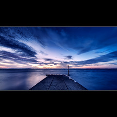 Road to Nowhere (Stuart Addelsee) Tags: ocean road trip morning travel light sea sky sun seascape color colour reflection nature water beauty clouds contrast sunrise canon landscape eos dawn early photo interestingness