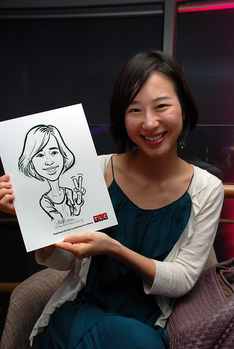 Caricature live sketching for TLC - 14