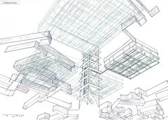 """A Worm's Eye View"" (ryanprb) Tags: architecture drawing thesis hollywood psychogeography labyrinth"