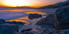 Declining Tides at Sunset - Stinson Beach (RoryMM) Tags: ocean california sunset beach water nikon stinsonbeach d700