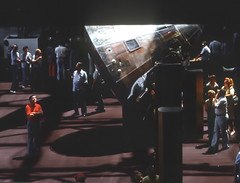 Awe Struck (stephencurtin) Tags: light people man smithsonian interior space air capsule historic restoration 1977