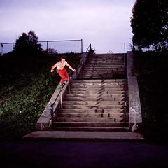 Ben Price (Shane Lach) Tags: 120 film big top rail slide ps bronica soul epson rollerblading provia vivitar sqa kink 285 80mm 100f 4490 obliquemind obliquamente