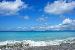 beach (esther**) Tags: sea sky seascape water beautiful landscape island paradise nuvole mare view turqouise wave greece cielo rhodes onde interestingness28 interestingness22 interestingness24