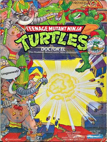 Playmates Toys.. TEENAGE MUTANT NINJA TURTLES :: Doctor El .. backer i  (( 1992 ))