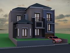 Rumah Tinggal 2,5 Lantai Citra Grand by Indograha Arsitama Desain & Build