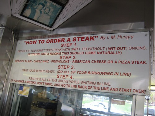 How to order a steak cheese