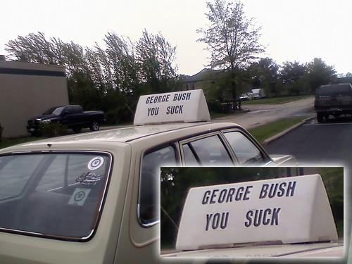 GEORGE BUSH YOU SUCK