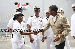 usher showing the troops some love
