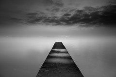 Night jetty 1 (chrisfriel) Tags: england blackandwhite bw beach landscape mono coastal themoulinrouge firstquality chrisfriel alarecherchedutempsperdu gwain vision100