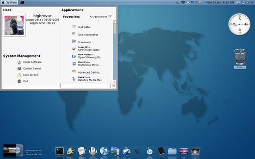 Ubuntu system menu