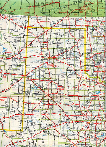 Texas panhandle and south plains - 1955 Mobilgas Southwest U.S. map ...