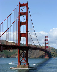 Golden Gate Bridge - San Francisco (anadelmann) Tags: sanfrancisco california ca bridge usa canon landscape goldengatebridge goldengate brcke landschaft suspensionbridge pictureperfect canonpowershot josephstrauss internationalorange hngebrcke v1000 g9 platinumphoto anawesomeshot theunforgettablepictures canonpowershotg9 absolutelystunningscapes anadelmann f5099 nxpl