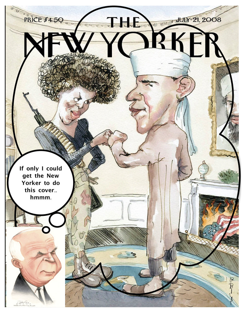 New Yorker Cover Remix:  Obama's with McCain Thought Bubble