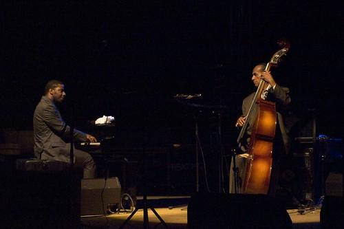 Cuban Pianist Rolando Luna, left, and late bassist Cachaito Lopez, photo by desta