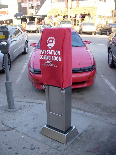 parking meter in Venice on Washington