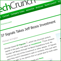 37Signals Takes Investment from Bezos