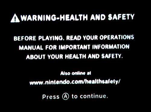 Wii warning