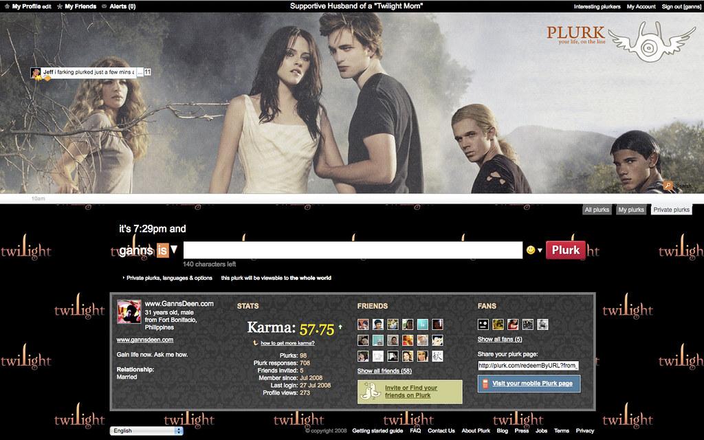 """Twilight"" theme for Plurk"