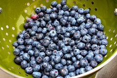 blueberries, rinsed