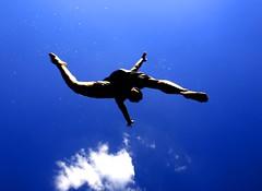 puzzle (& down) Tags: blue sky people white black clouds germany person jump cross body hamburg himmel olympus zuiko dunkel evolt weitwinkel e510 esystem esystems zuikolens 1442mm independentphotos olympuse510 objekiv