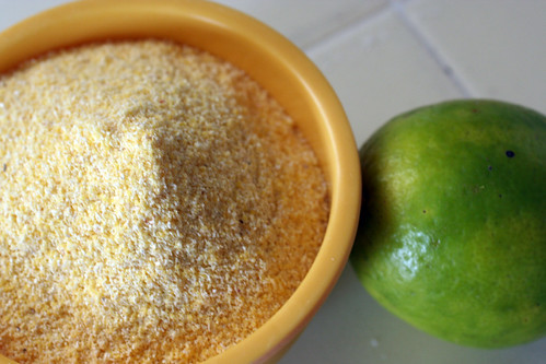 lime and cornmeal