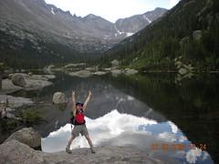 Clare at Mills Lake (9,955')