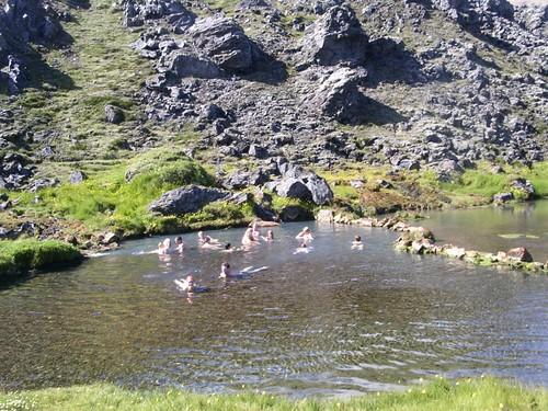 heisse Quelle in Landmannalaugar