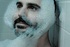 Day 234 - I Dream of Mutton Chops (lintmachine) Tags: portrait self beard bath dreams bubble chops mutton hhnt fgr 365days