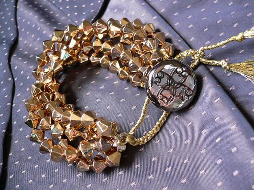 CLEOPATRA gold bead multi-stranded bracelet
