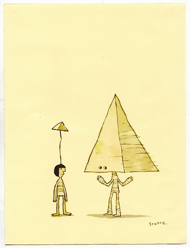 Pyramids Make Me Look Better / Scott Campbell