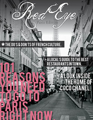 Travel Magazine Cover Project (Samantha Jeet) Tags: travel white black paris project magazine design cover adobe indesign cs3