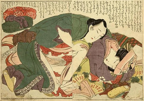 -Hokusai - Overlapping Skirts - From Behind - c.1820. by you.