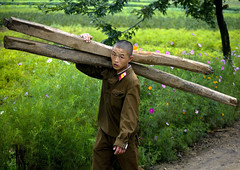 Soldier at work North Korea (Eric Lafforgue) Tags: pictures travel soldier army photo war asia picture korea kimjongil soldiers asie coree journalist soldat journalists northkorea  dprk  coreadelnorte soldats juche kimilsung nordkorea 3257 lafforgue   ericlafforgue   coredunord coreadelnord  northcorea coreedunord rdpc  insidenorthkorea  rpdc   demokratischevolksrepublik coriadonorte northkoreanarmy  armeenordcoreenne kimjongun coreiadonorte