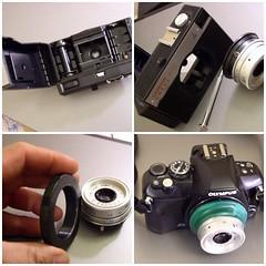 Smena-Lomo-Olympus E400 (.e.e.e.) Tags: lens handicraft lomo fdsflickrtoys olympus adapter russian smena 43