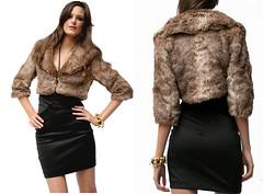 Gosh Fur Jacket Brown