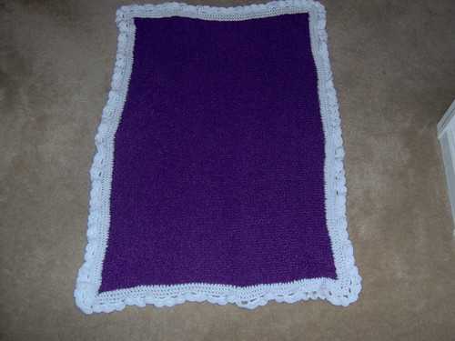 Knit/crochet baby blanket