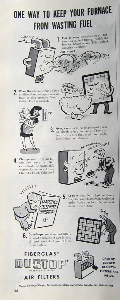 1943 air filter ad