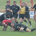 Tony Roques and Glenn Cooper stop a Redruth attack