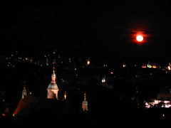 2007 07 01 - 0585 - Graz - View from Schlossberg (thisisbossi) Tags: moon night austria sterreich graz moonillusion