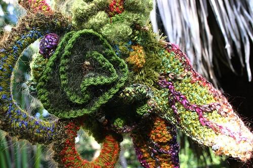 freeform knit & crochet hat