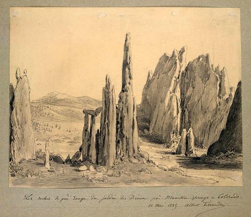 008- Las rocas rojas en el jardin de Diana cerca de Manituou Spring Colorado 1885