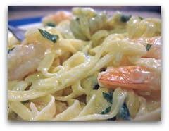 My Herbed Linguine with Shrimp