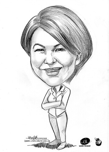 Caricatures Web in Travel 2008 Judy Siguaw